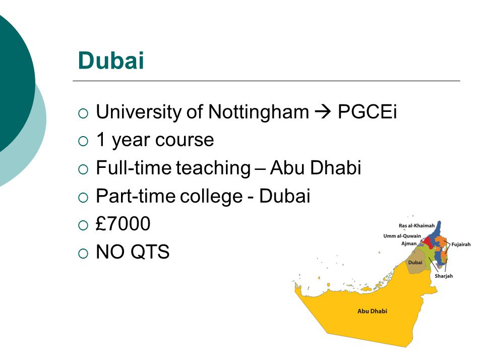 Dubai  Empowering Learning  Dubai/London- based teacher training and recruitment company  Offered QTS  Train in England