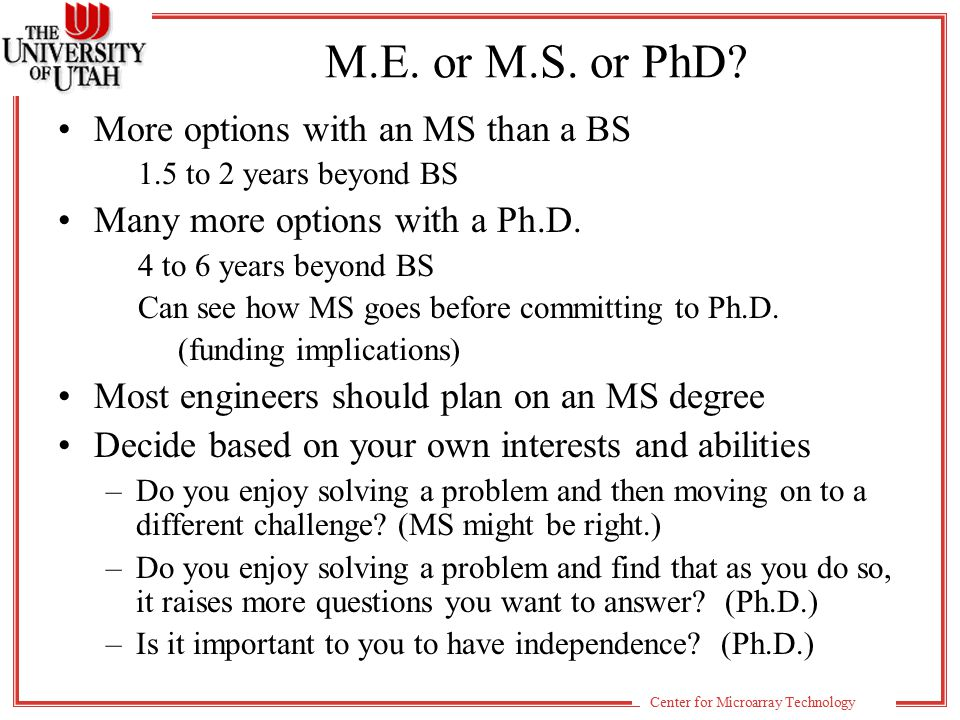 Center for Microarray Technology Electrical and Computer Engineering Department Information 20 regular faculty members 12 research faculty 4 adjunct faculty Current graduate enrollment Degree BS/ME/MS MEMSEEPhD Students14/164435153