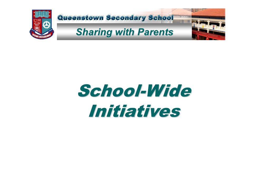 Sharing with Parents School-Wide Initiatives