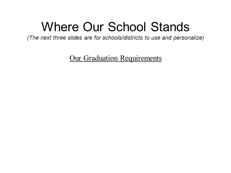 Where Our School Stands Percentage of our students currently fulfilling the requirements of MassCore