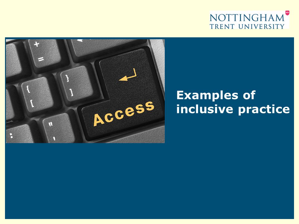 Examples of inclusive practice