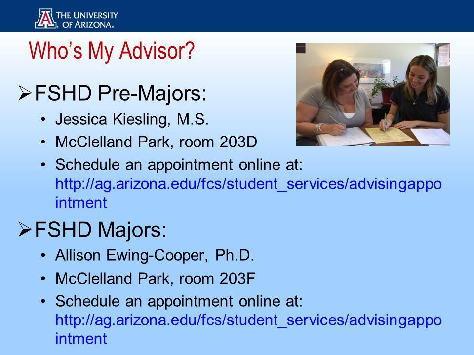  FSHD Pre-Majors: Jessica Kiesling, M.S.
