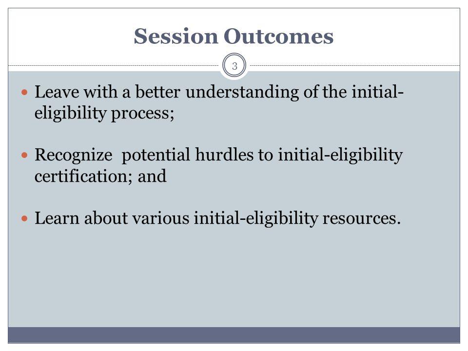 Initial-Eligibility Waiver Directive Mitigating Circumstances 24 Institutional misadvisement/lack of advisement.