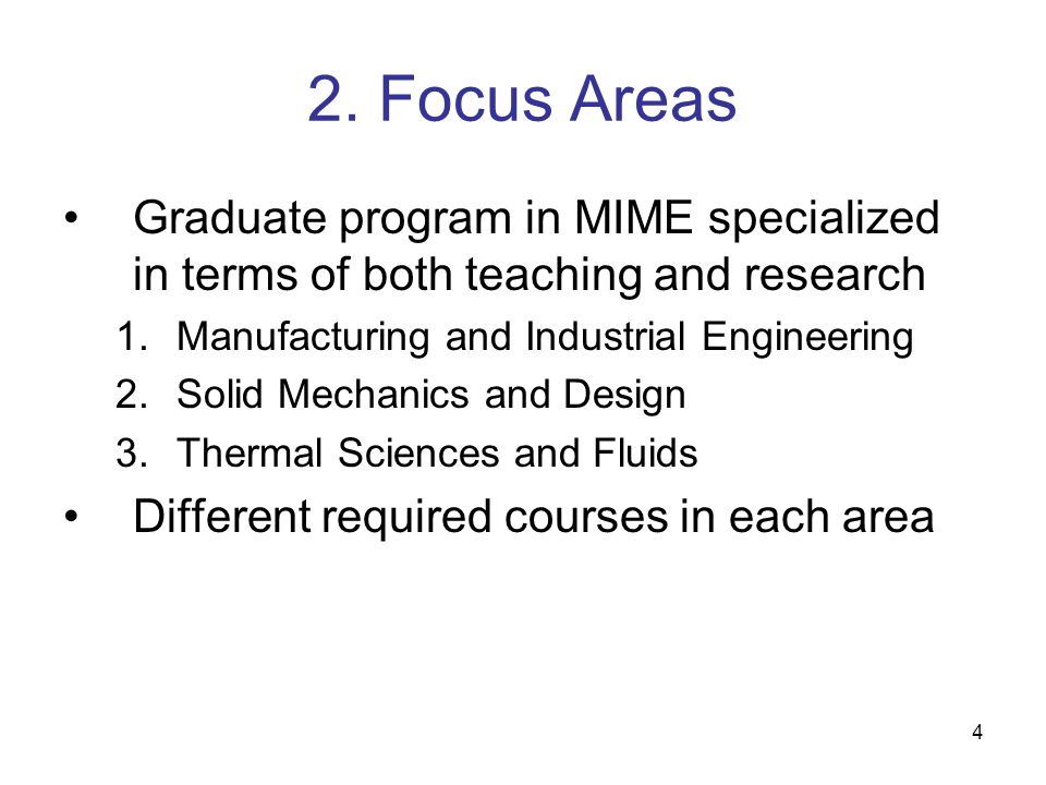 15 Graduate Programs PhD –Minimum requirements: 60 credit hours beyond MS 15 credit hours of coursework (minimum) 30 hours dissertation (8960, minimum) 15 credit hours: research (8900) + coursework