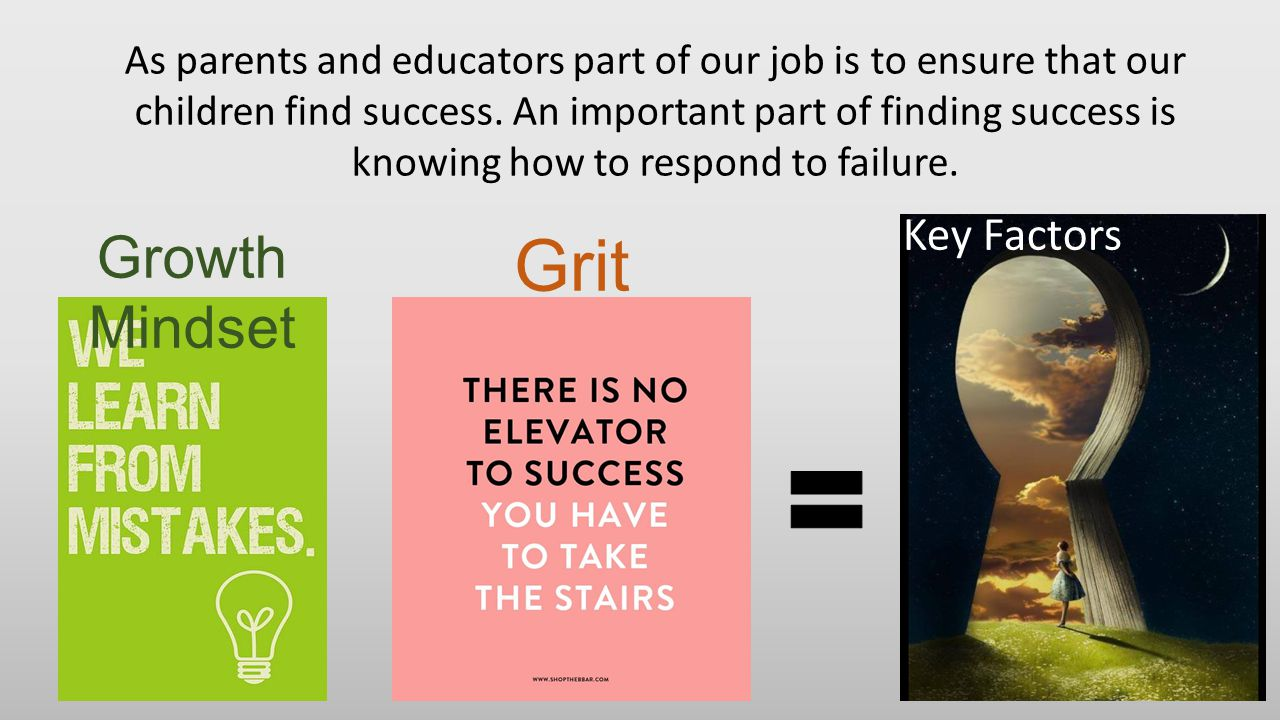 As parents and educators part of our job is to ensure that our children find success. An important part of finding success is knowing how to respond t
