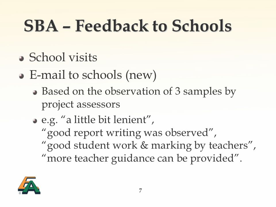 8 Notes to teachers Better Communication Use valid e-mail addresses entered in the Online School-based Assessment System CE Exam Application Continue to be alert wrong selection of modules and double-check the return slip