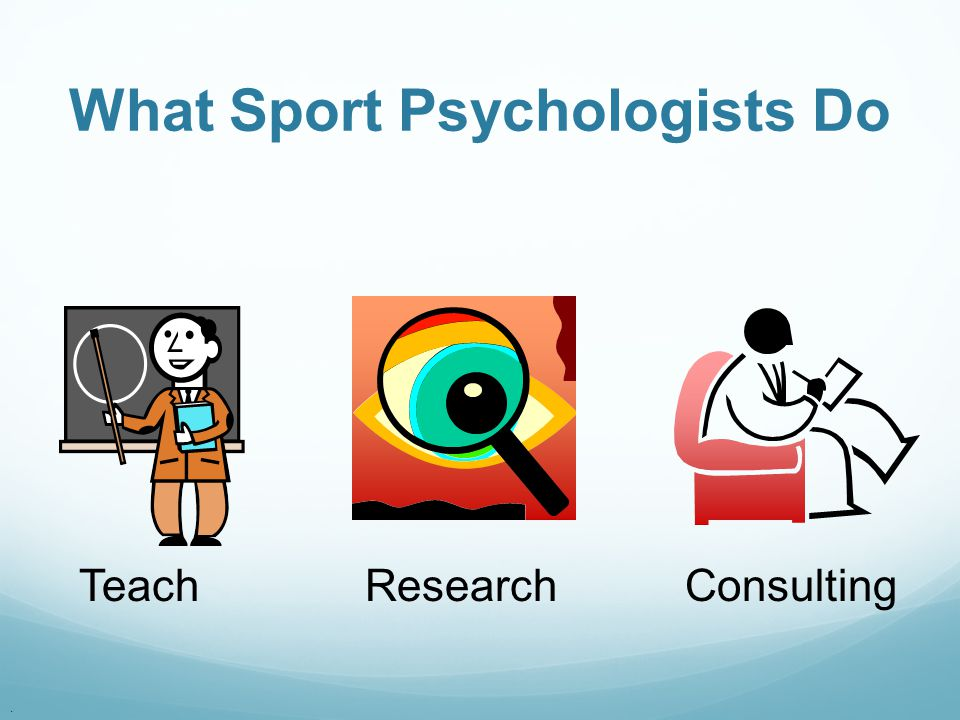 . Teach Research Consulting What Sport Psychologists Do