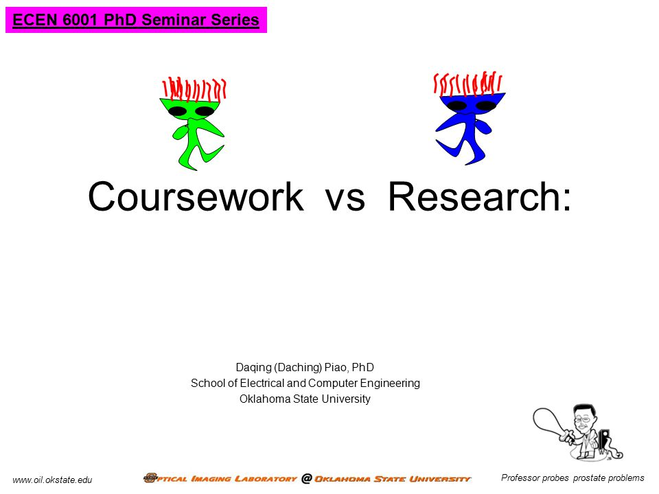 Coursework vs Research: Battle or Balance .