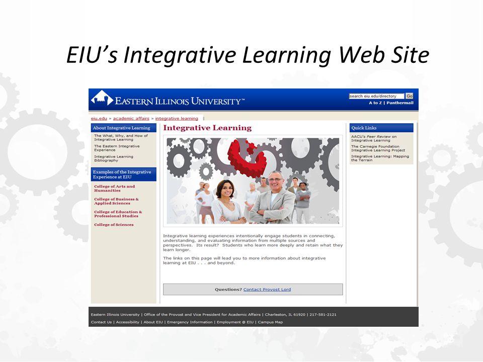 EIU's Integrative Learning Web Site
