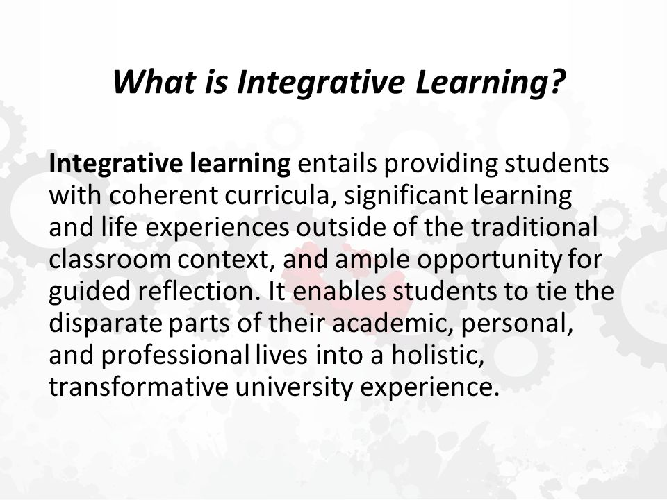 What is Integrative Learning.