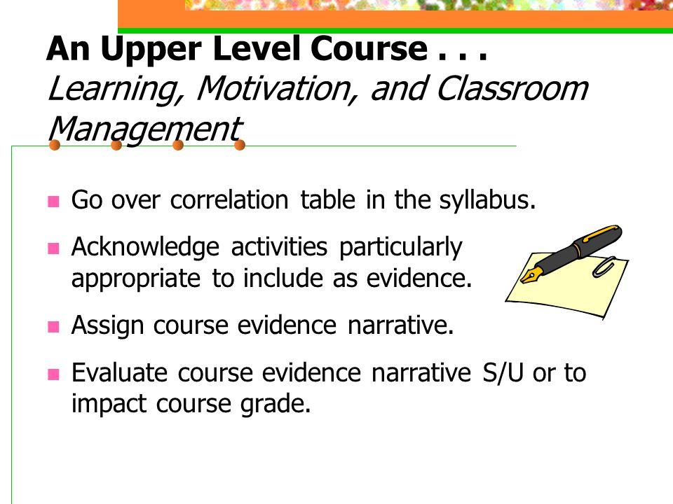 An Upper Level Course...
