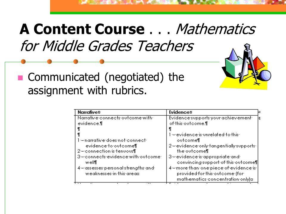 A Content Course...