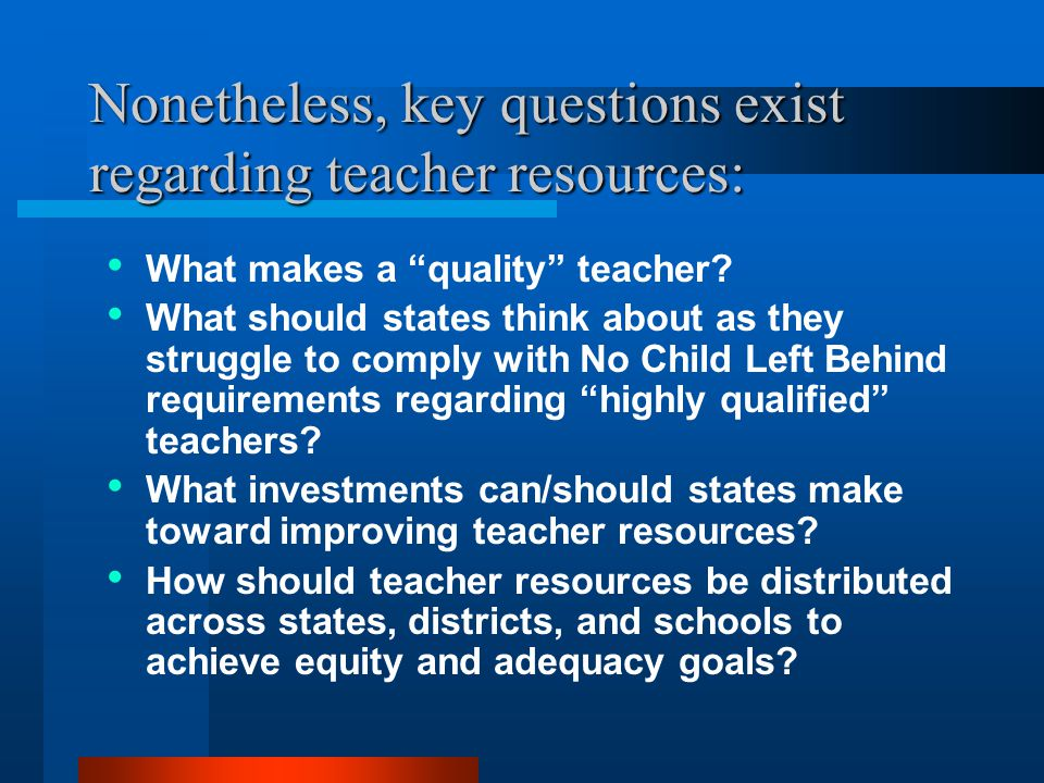 Q2: What does existing research say about teacher resources.