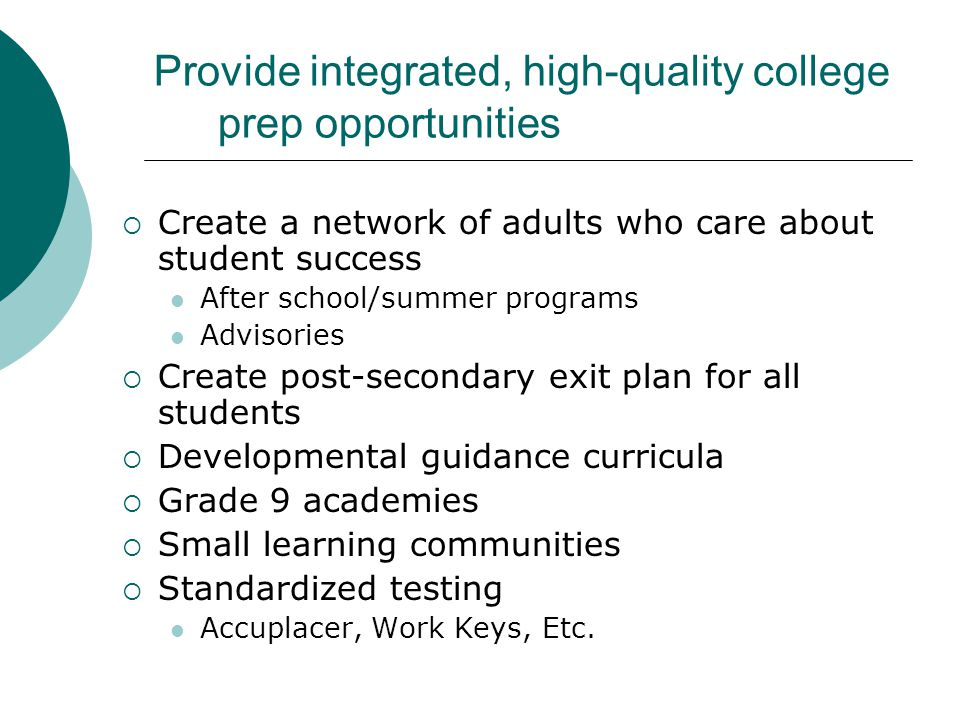 Using Data to Improve College-Going Rates  Placement data Where do students apply and where are they accepted.