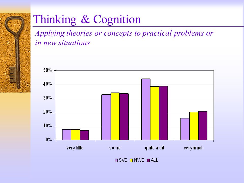 Thinking & Cognition Applying theories or concepts to practical problems or in new situations