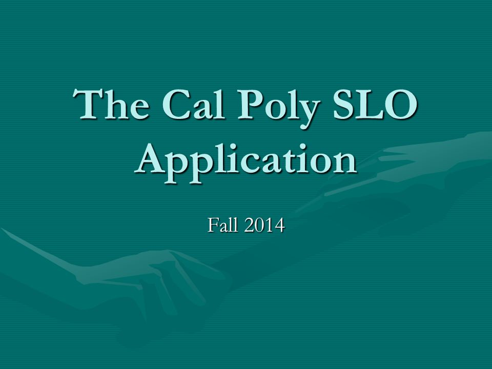 The Cal Poly SLO Application Fall 2014