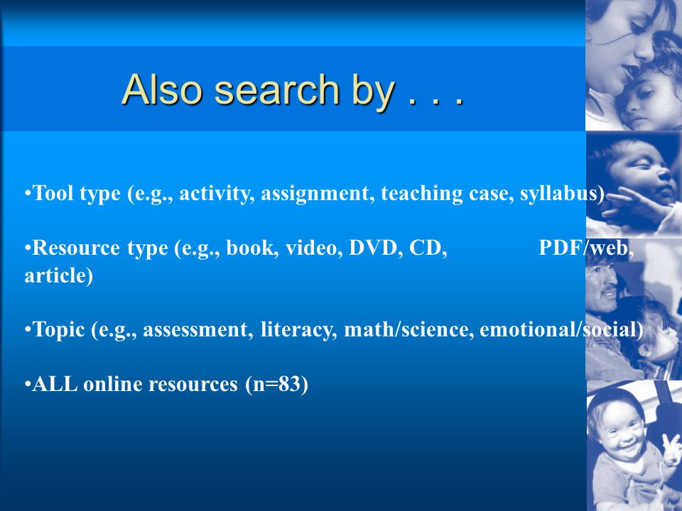 Also search by...