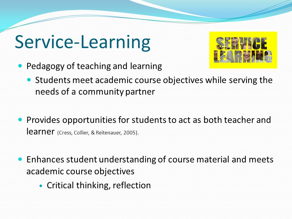 Student Learning Outcomes The student will… Participate in the design, implementation, and evaluation of a student affairs related program or event which promotes wellness and the holistic development of students (CACREP SACC – D.6).