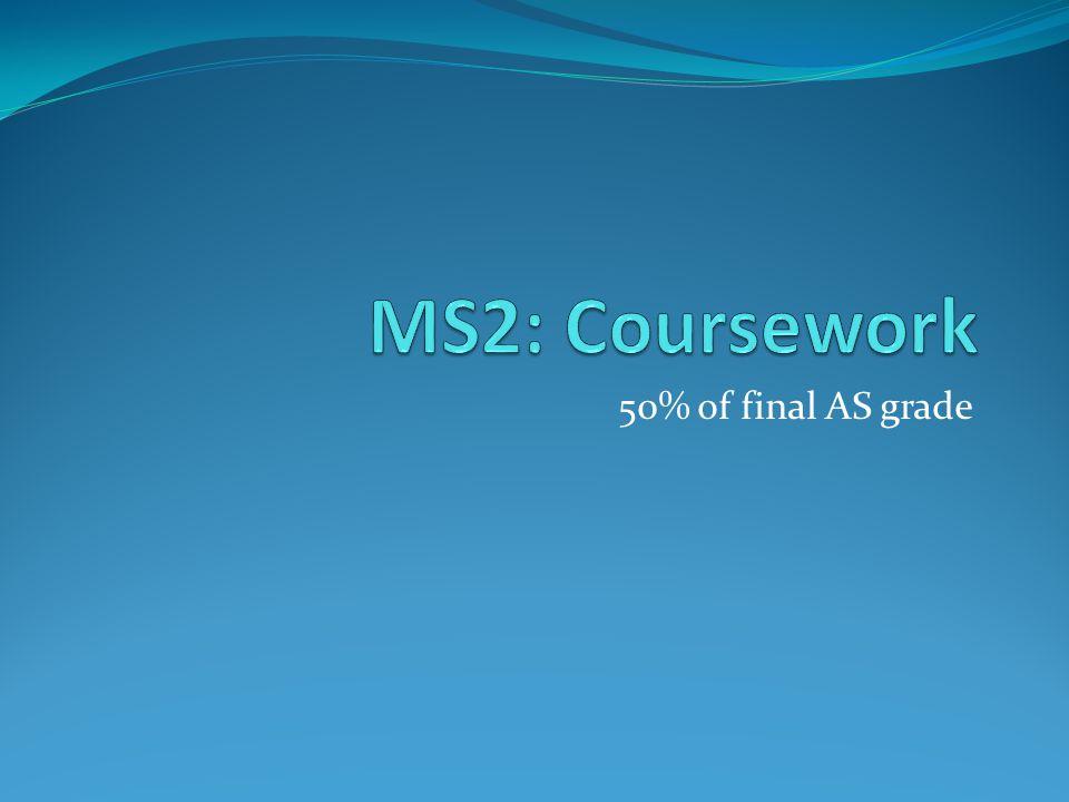 50% of final AS grade