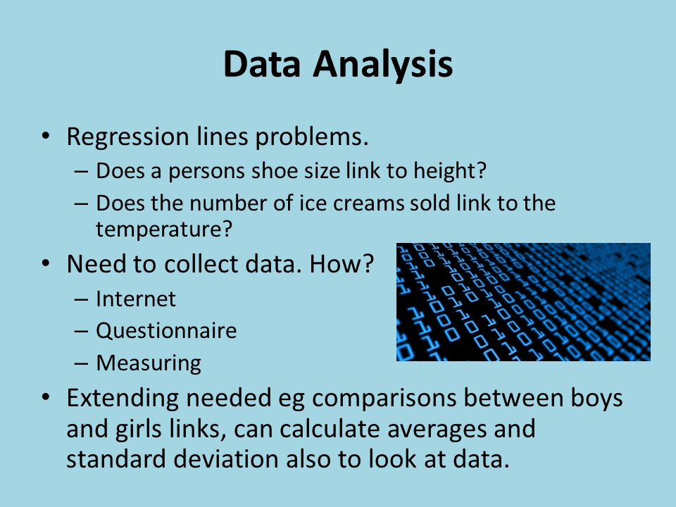Data Analysis Regression lines problems. – Does a persons shoe size link to height.