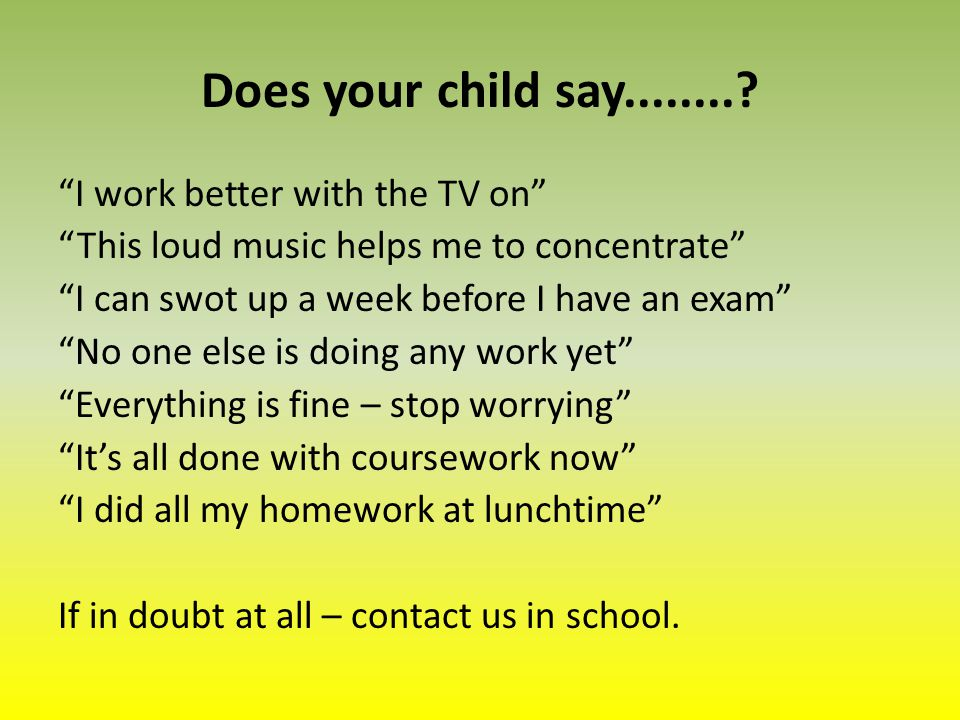 Does your child say.........