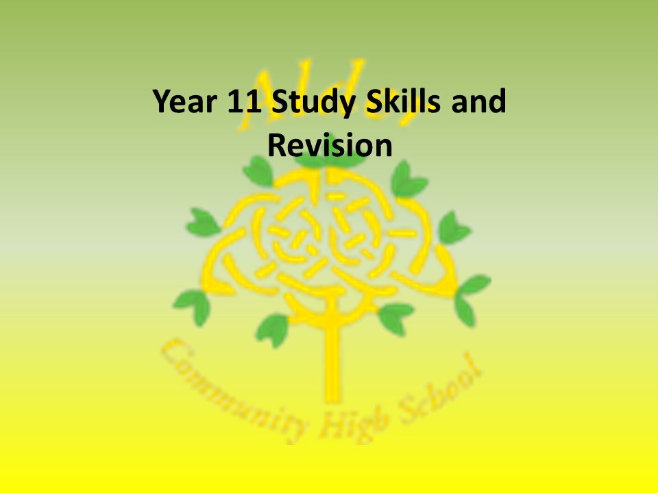 Year 11 Study Skills and Revision