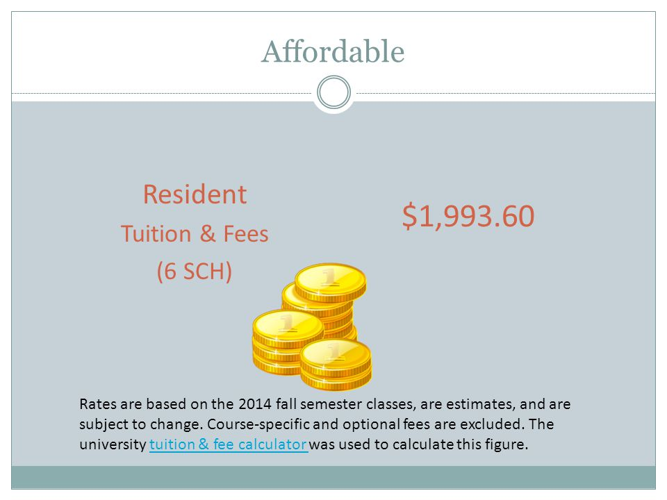Average Resident Full-Time (9 SCH) Graduate Tuition & Fees at Texas Public Universities Institution (41 total) Avg.
