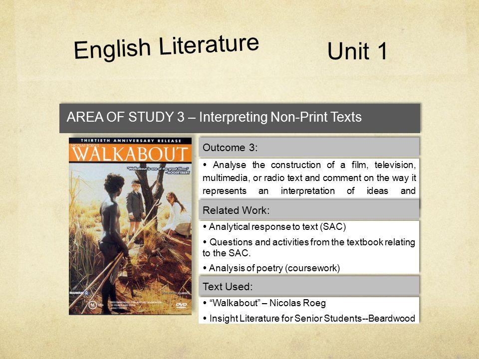 English Literature Unit 1