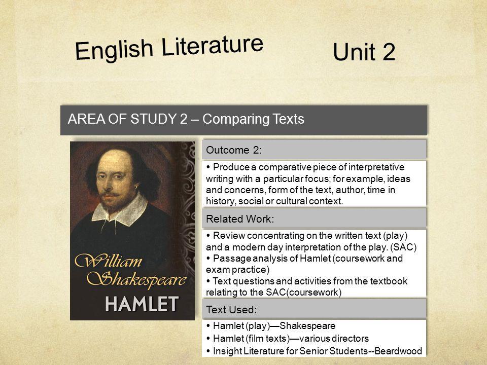 English Literature Unit 2