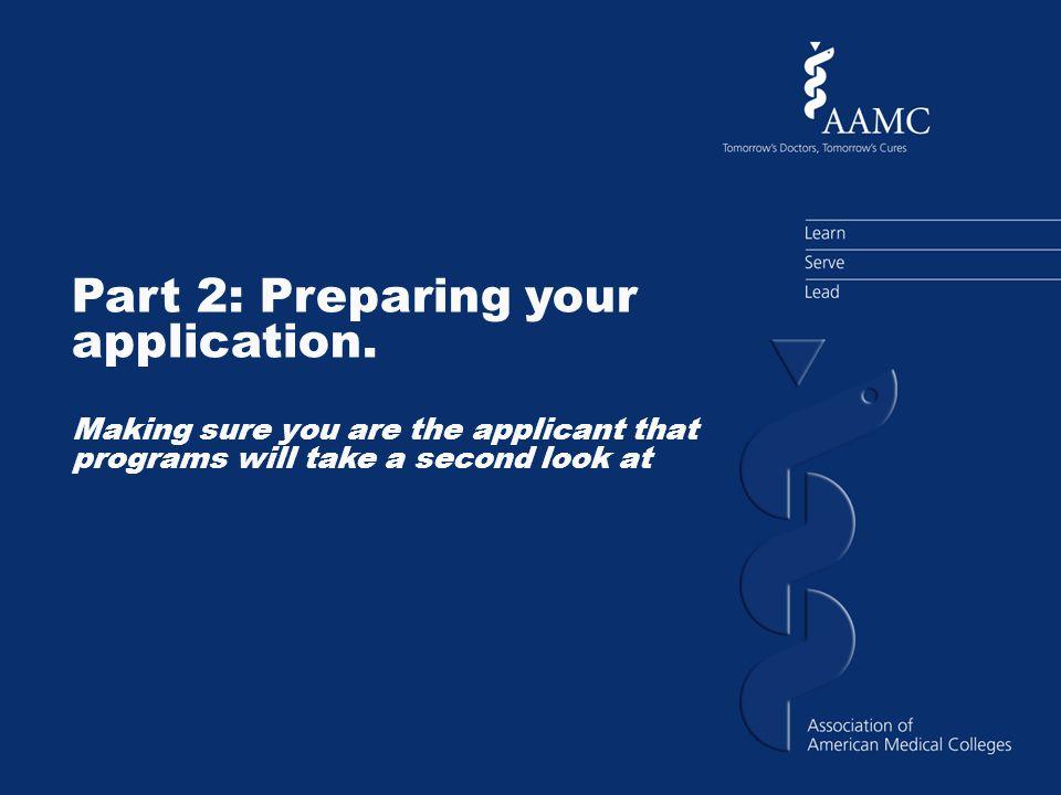 Part 2: Preparing your application.