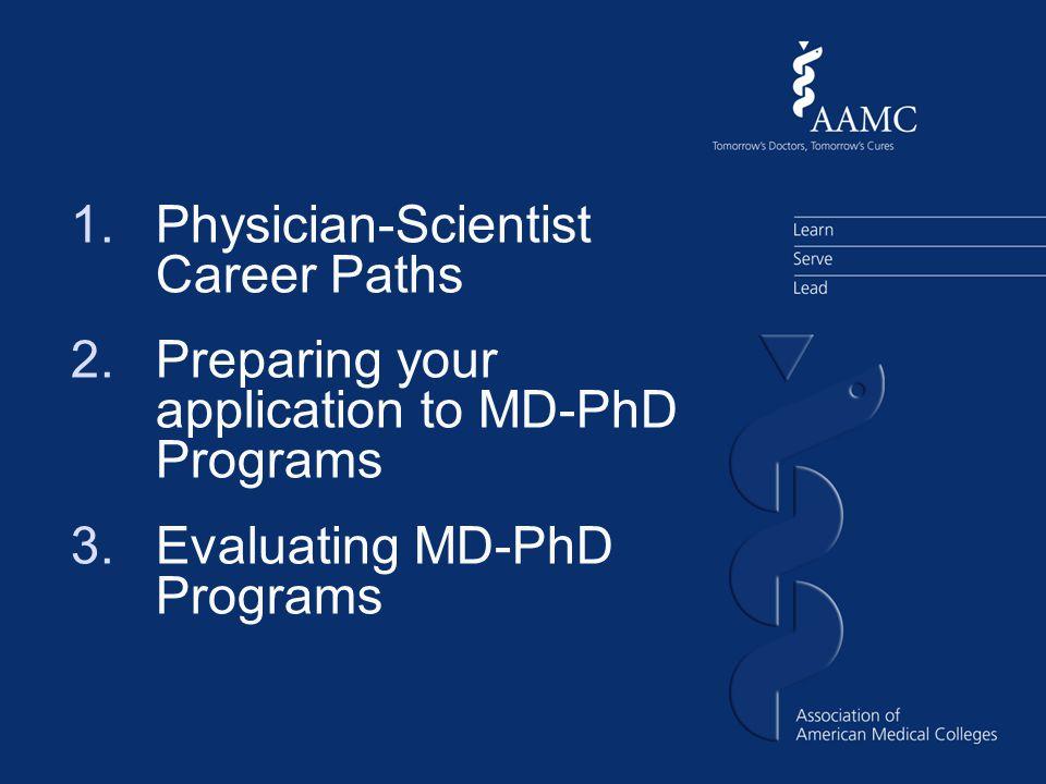 Part 1: Physician- Scientist Career Paths MD versus PhD versus MD-PhD