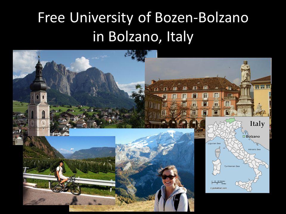 Free University of Bozen-Bolzano in Bolzano, Italy