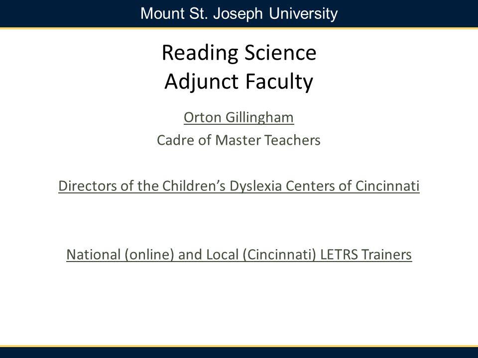 Mount St.Joseph University Application Deadlines Rolling Admissions.