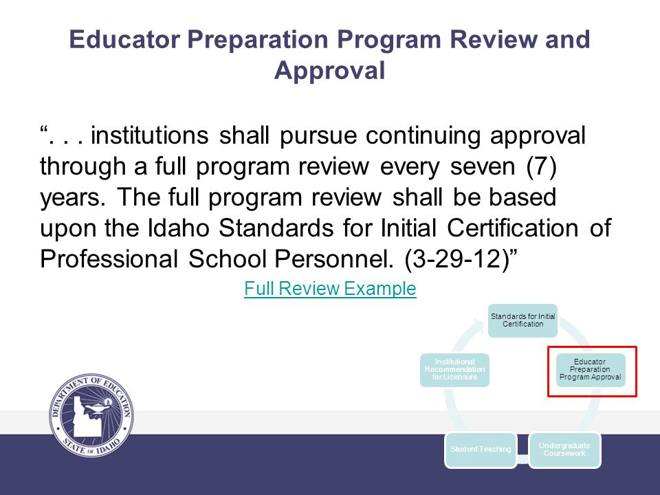 Educator Preparation Program Review and Approval ...