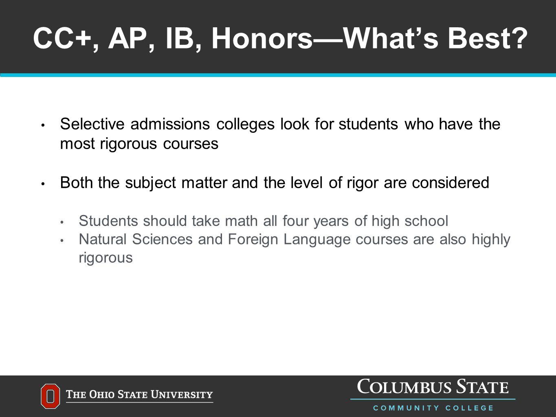 CC+, AP, IB, Honors—What's Best.