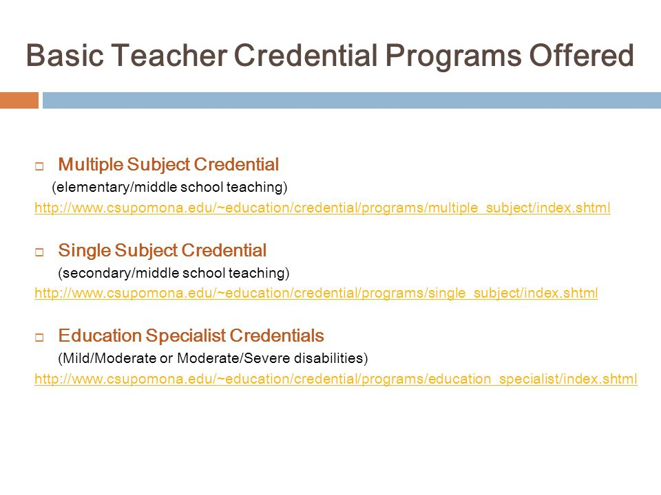 Alternative Clinical Practice (Internship) (3 rd of 4 Applications Needed for Credential Programs) Work full-time as a teacher, attend classes in the evenings.