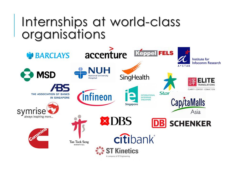 Internships at world-class organisations