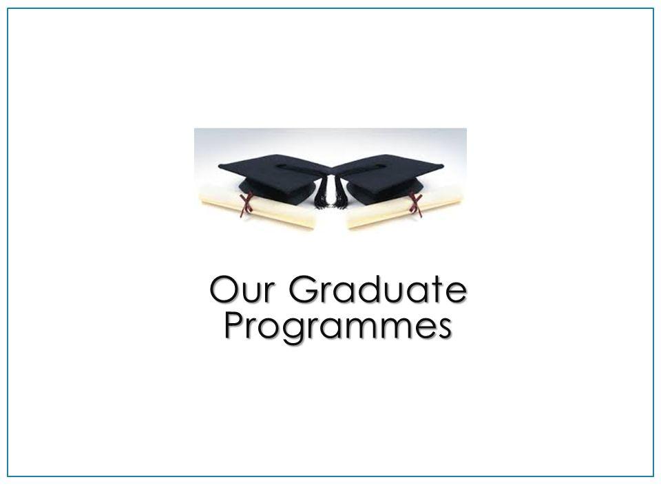 Our Graduate Programmes