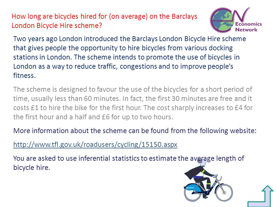 Two years ago London introduced the Barclays London Bicycle Hire scheme that gives people the opportunity to hire bicycles from various docking statio
