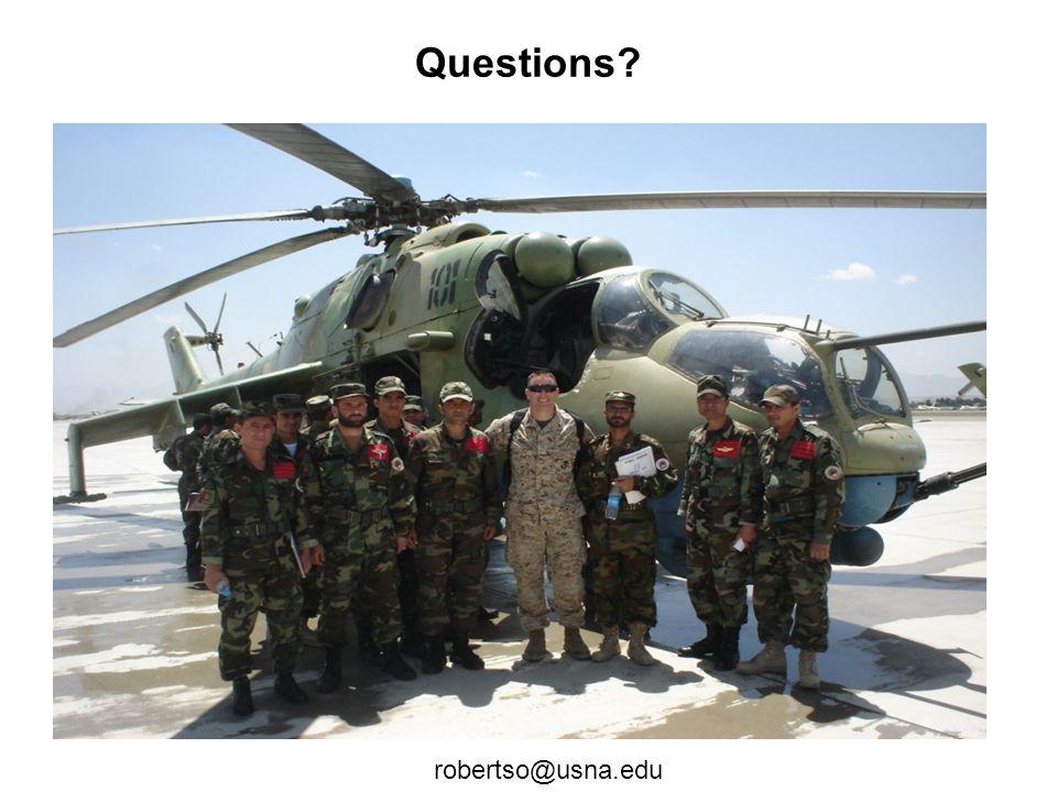 Questions? robertso@usna.edu