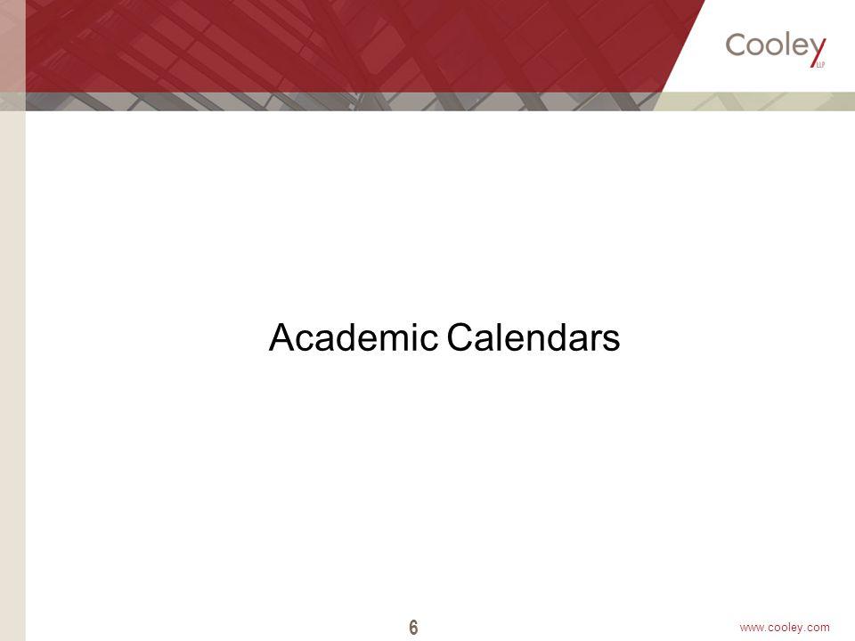 www.cooley.com Academic Calendars 6