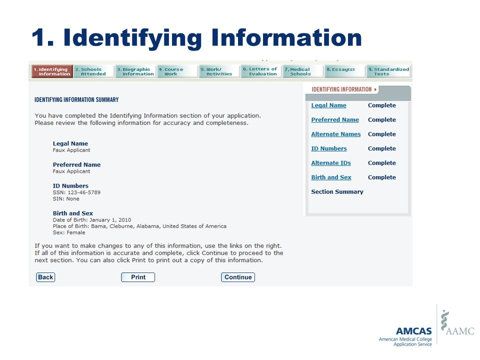 1. Identifying Information
