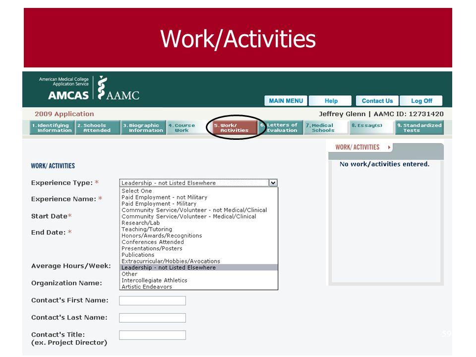 Work/Activities 59