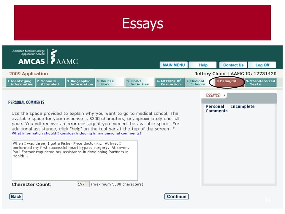 Essays 86