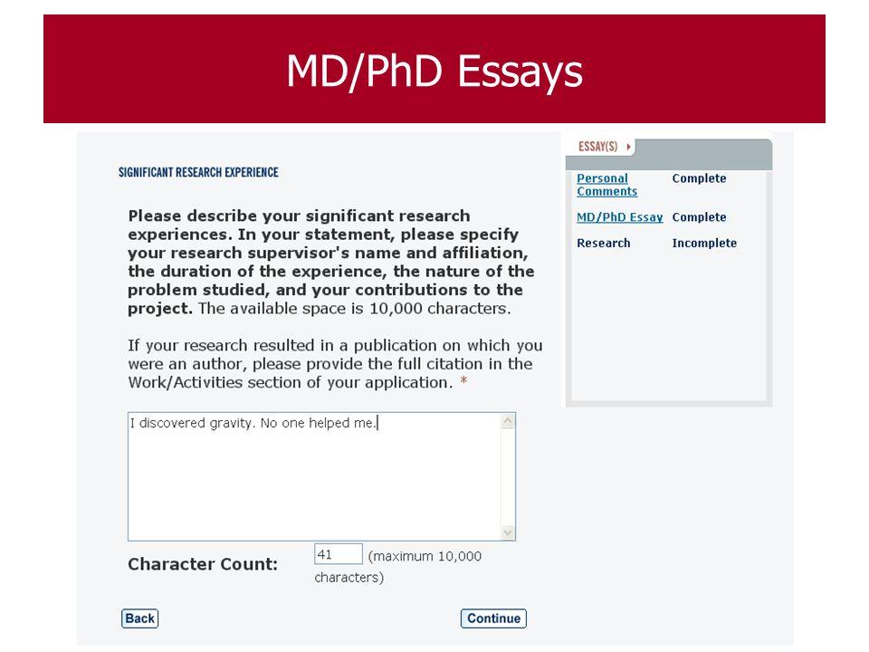 MD/PhD Essays 88