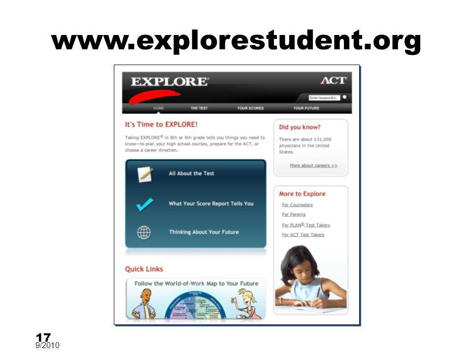 www.explorestudent.org 17 9/2010