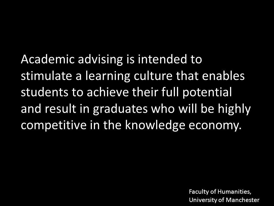 Academic Advisor versus Personal Tutor