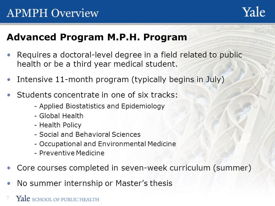 APMPH Overview 7 Advanced Program M.P.H.