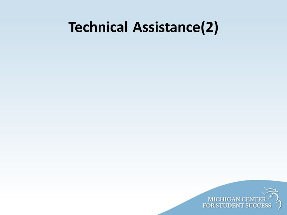 Technical Assistance(2)