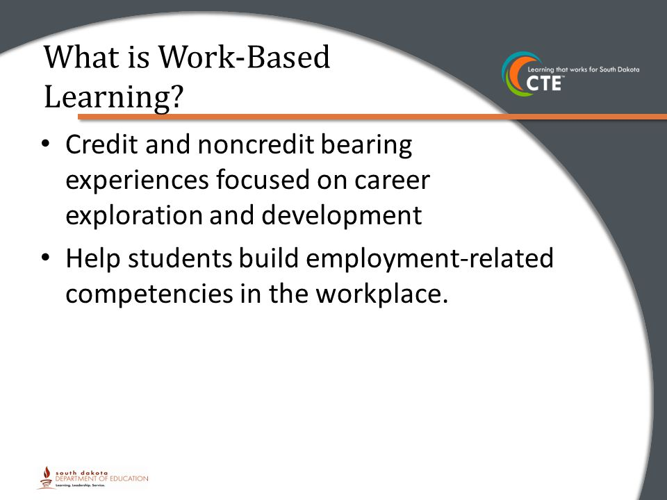 Credit and noncredit bearing experiences focused on career exploration and development Help students build employment-related competencies in the workplace.